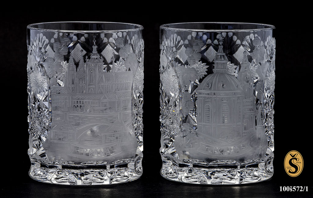 Engraved glass Ladislav Ševčík Bohemia Crystal
